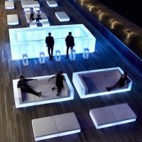 Vondom Vela Corner Bar with LED light