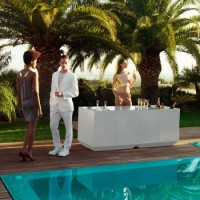 Vondom Vela Catering Bar with light