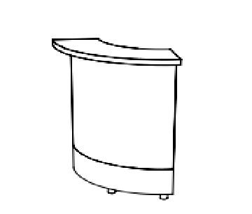 Moree Modulaire 90° verlichte bar