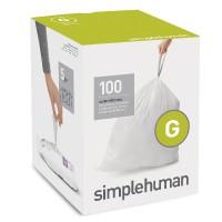 simplehuman-afvalzakken-code-g-30-liter-pocket-liners-set-van-5x20-stuks - SH 016092