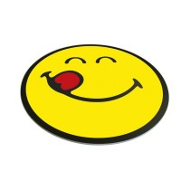 smiley-20-serveerschaal-glas-rond-30-cm-emoticon-yummy - ZK6727-005