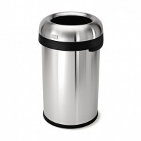 simplehuman-afvalemmer-bullet-open-top-can-80-liter-zilver - SH 016603 RVS