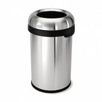 simplehuman-afvalemmer-bullet-open-80-liter-zilver - SH 016603