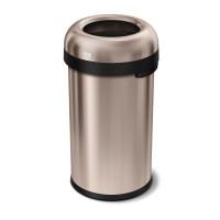 simplehuman-afvalemmer-bullet-open-top-can-brede-opening-60-liter-rose-gold - SH 020099