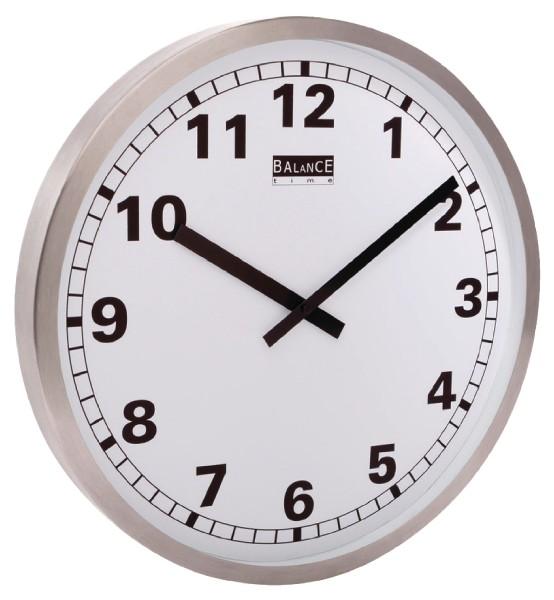 Balance Time Aluminium Wandklok
