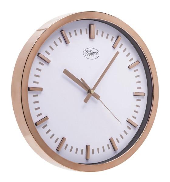 Balance Time Chrome Kunststof Klok