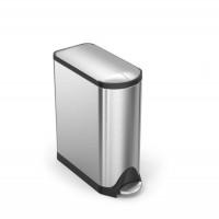 simplehuman-afvalemmer-butterfly-45-liter-zilver - SH 015361