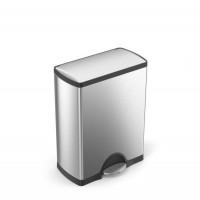 simplehuman-afvalemmer-classic-50-liter-zilver - SH 005553