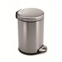 simplehuman-afvalemmer-rond-45-liter-zilver - SH 009841