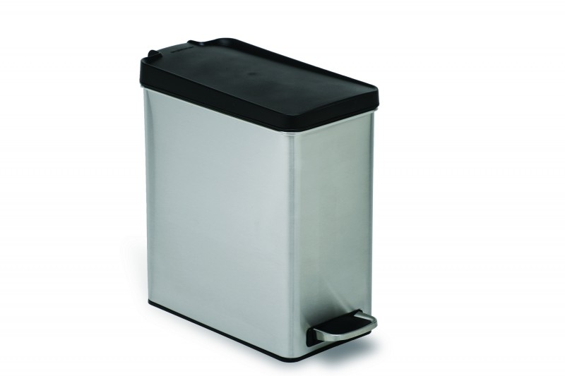 Afvalemmer profile 10 liter RVS met kunststof deksel Simplehuman