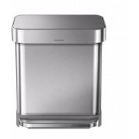simplehuman-afvalemmer-rectangular-liner-pocket-30-liter