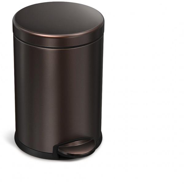 Simplehuman Mini Round 4,5 Liter Glans RVS Brons