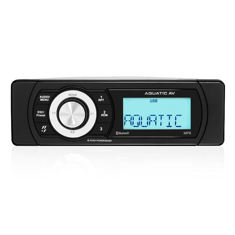 Aquatic AV Compact Marine Stereo AQ-MP-6BT