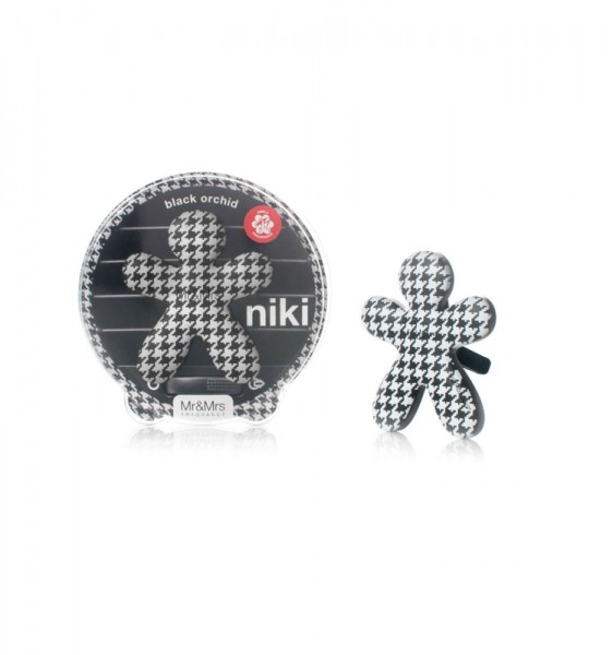 Mr&Mrs Fragrance Niki Black Orchide luchtverfrisser auto + refill