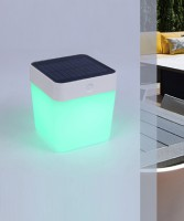 Lutec Moveable Outdoor Solar Table Cube
