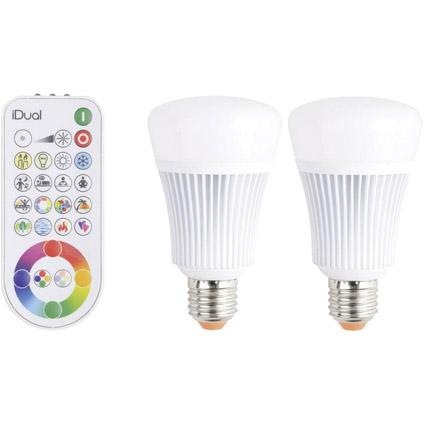 iDual A E27 LED 2 stuks met afstandsbediening