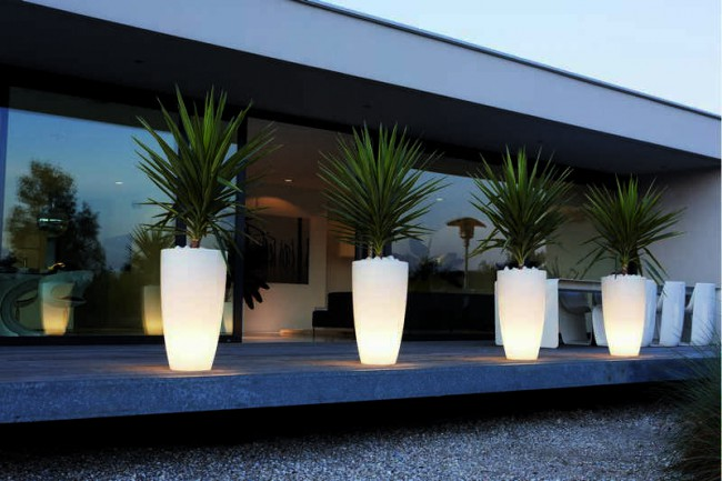 Elho Pure Soft Round High Smart LED 50