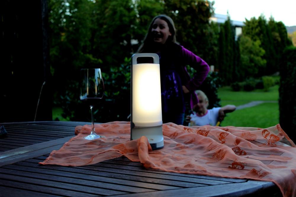 Lutec DRAGONFLY draagbare zilveren Solar lamp