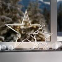 sompex-led-sfeerlamp-kerstster-lucy-chroom-34cm - 72170
