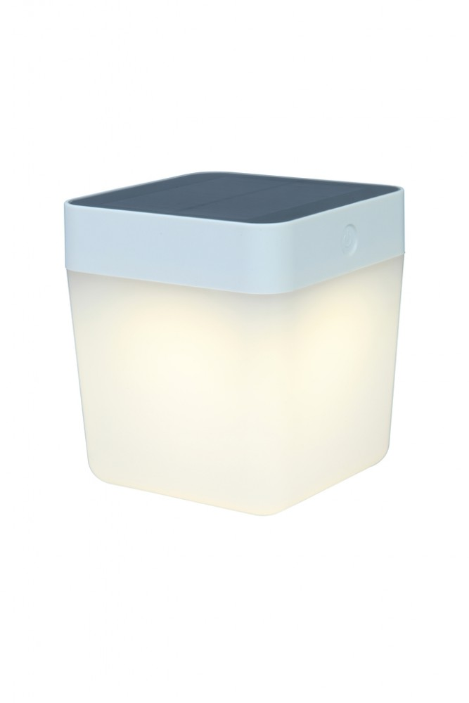 Lutec Table Cube LED-Solarlamp (wit)