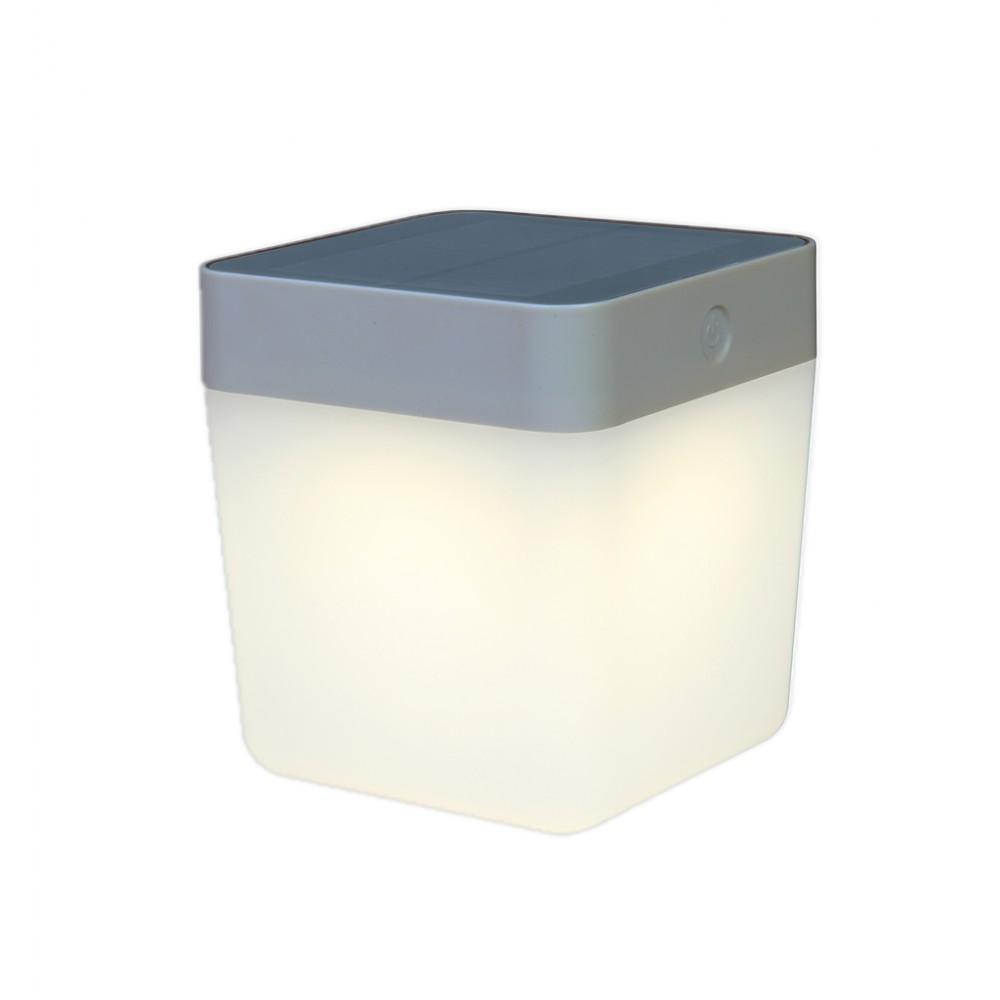 Lutec Table Cube LED-Solarlamp (grijs)