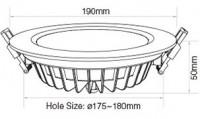 MiLight Downlight Waterproof LED-Paneel 15W RGB+CCT
