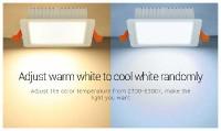 MiLight Downlight LED Spot 9W RGB+CCT Vierkant