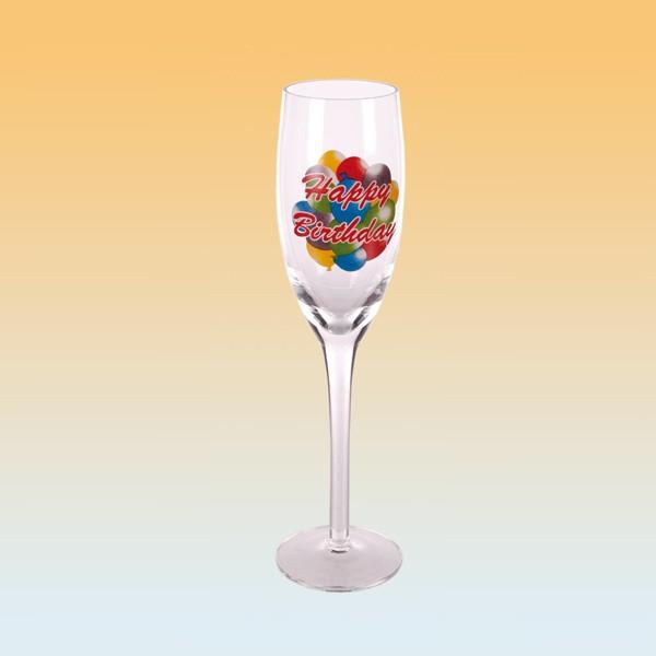 Happy Birthday champagneglas