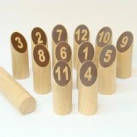 Numbers Kubb (Möllky) : Rubberhout
