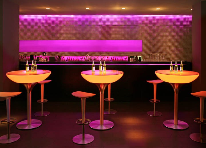 Moree Lounge Table 105 LED Verlicht