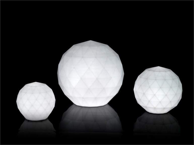 Vondom Vases Lampara Bola Wit Verlicht