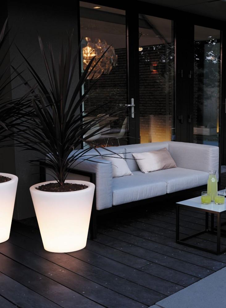 Elho Pure Straight LED Lichtgevende Plantenbak 60