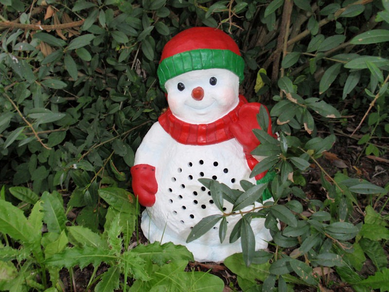 Tuinspeaker Snowman