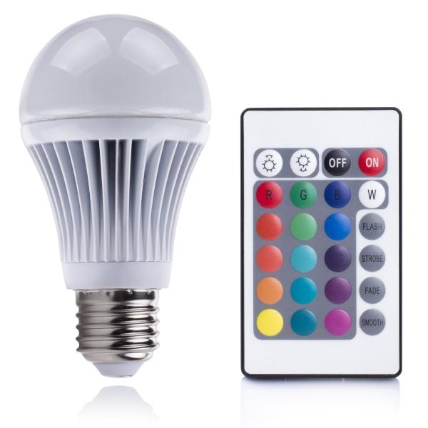 XQ-Lite E27 RGB LED lamp met afstandsbediening - LED Lampen ...