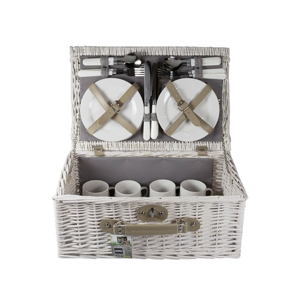 Lege Picknickmand Natural Grey (4 persoons)