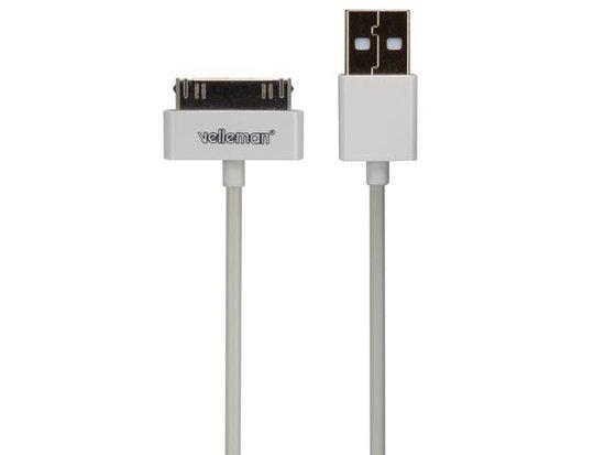 Kabel iPhone USB naar 30-pins 1meter wit