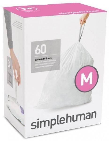 Simplehuman Afvalzakken Code M 45 liter Pocket Liners Set van 5x20 Stuks