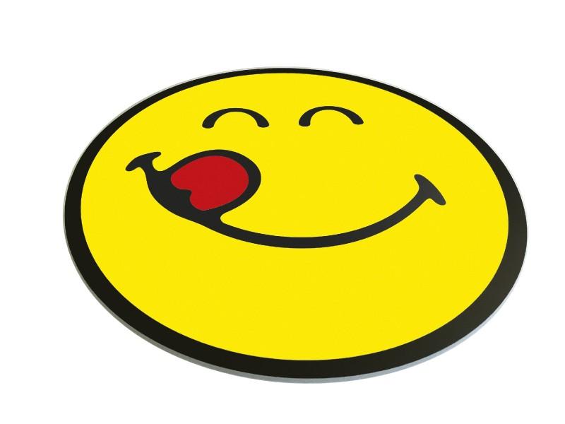 Smiley 2.0 Serveerschaal Glas Rond 30 Cm Emoticon Yummy