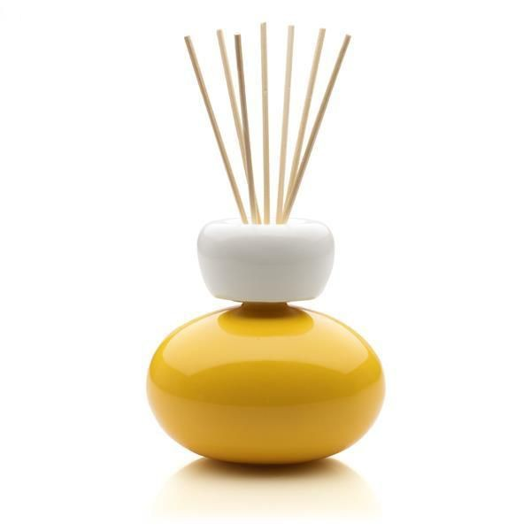 Mr & Mrs Fragrance Ginger, Diffuser met geurstokjes geel