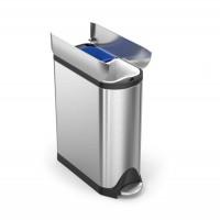 simplehuman-afvalemmer-butterfly-recycler-40-liter-zilver - SH 015637