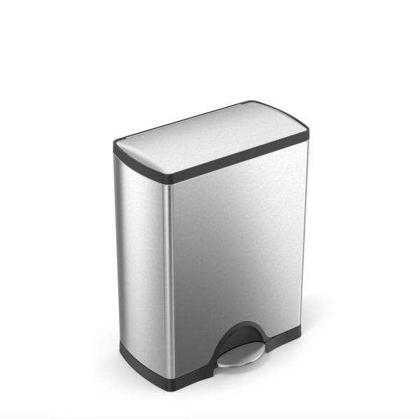 Simplehuman Afvalemmer Classic 50 liter (zilver)