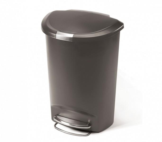 Simplehuman Afvalemmer Half Rond 50 liter (zwart)