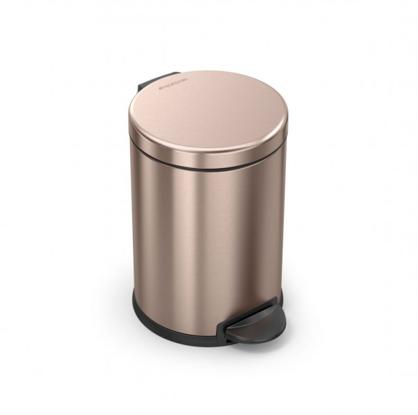 Simplehuman Afvalemmer Rond 4,5 liter (Roze goud)