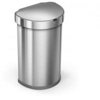simplehuman-afvalemmer-liner-pocket-half-rond-sensor-zilver