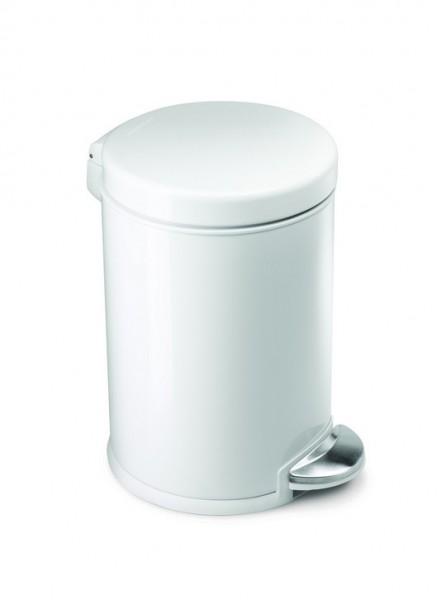Simplehuman Afvalemmer Rond 4,5 liter (Wit)