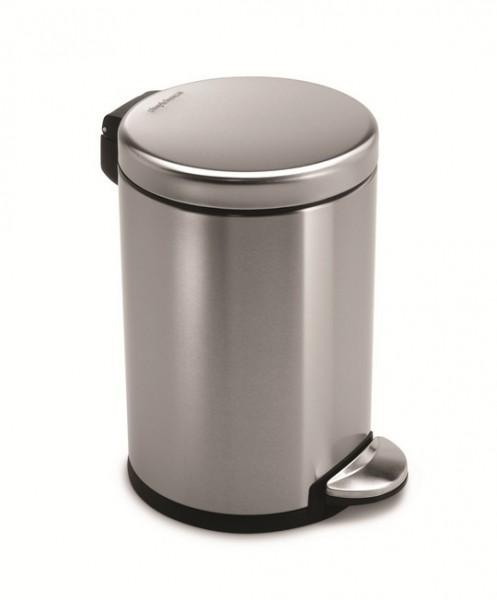 Simplehuman Afvalemmer Rond 4,5 liter (Zilver)