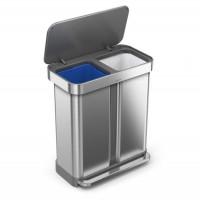 simplehuman-afvalemmer-liner-pocket-recycler-zilver