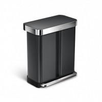 simplehuman-afvalemmer-liner-pocket-recycler-zwart