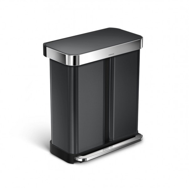 Simplehuman Afvalemmer Liner Pocket Recycler (zwart)