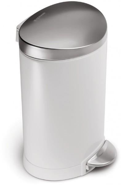 Simplehuman Afvalemmer Half Rond 6 liter (wit)